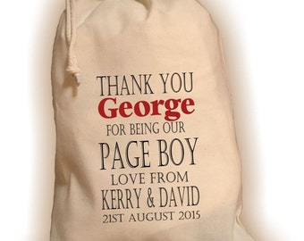 Personalised Page Boy Gift Bag - Various Sizes Available George Design