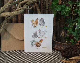 Chicken Coop Illustration - Greetings Card - Sketchbuck