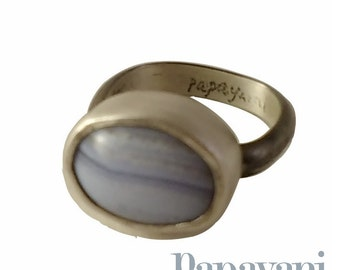 Stacking ring: Lace Agate