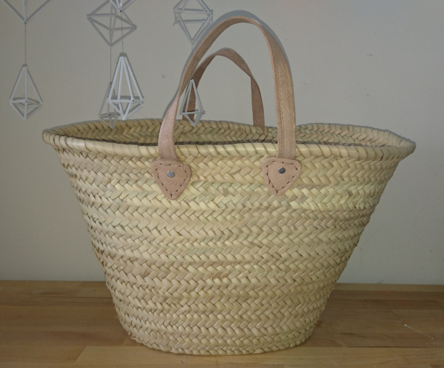Moroccan shopping basket bag beach bag natural beach bag