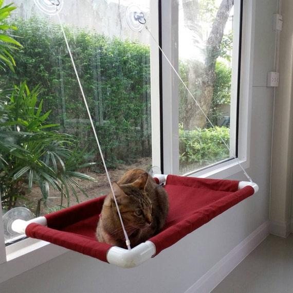 fen tre chat lit chat lit lit de chat chat hamac par. Black Bedroom Furniture Sets. Home Design Ideas