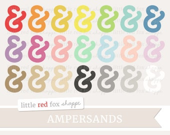 Ampersand Clipart, Ampersands Clip Art Typography Letter Alphabet Symbol Sign Character Cute Digital Graphic Design Small Commercial Use
