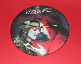 """Marillion Assassing 12""""  picture disc clock"""