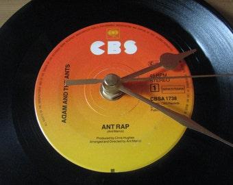 "Adam and the Ants ant rap  7"" vinyl record clock"