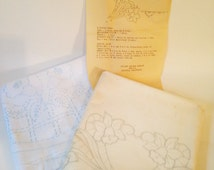 2 Sets of Stamped for Embroidery Pillowcaes