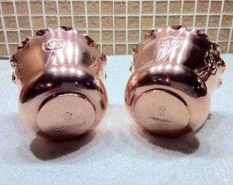Benham and Froud English Copper Handmade Victorian Style Jardiniere *Set Of Two*