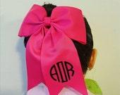 ON SALE Monogram Hairbow | Monogram Cheer Bow | Monogram Bow | Preppy Personalized Hair bow | Cheer Bow | Monogram Large Bow
