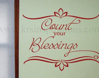 Count Your BLESSINGS Wall Decal
