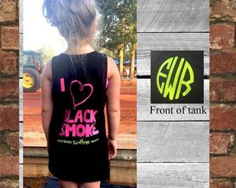 I love black smoke monogram girls tank