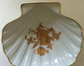 1950s, Limoges porcelain shell dish