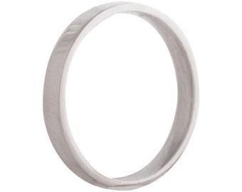 Wedding  flat ring/band 2.5mm 9ct white gold