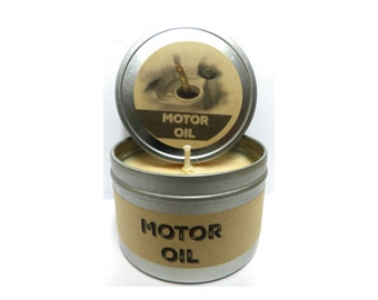 Motor Oil Candle Etsy
