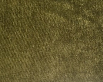 Chenille Green - Upholstery Fabric by the Yard