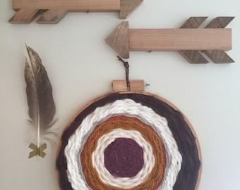 """Hoop Weave Wall Hanging 16"""""""