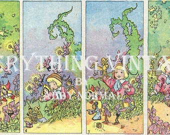 Vintage Cartoon Illustration from a 1910s Magazine as a Digital Image