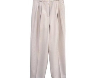 Authentic vintage CHANEL cream high waist trousers!