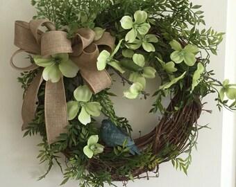 Bluebird Grapevine Wreath