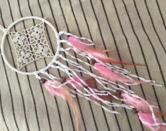 Dream catcher bohemian chic soft pink