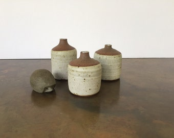 Set of 3 Ceramic Weed Pots by Lorene and Ralph Spencer