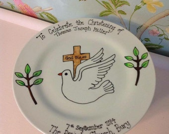 Commemorative Christening plate