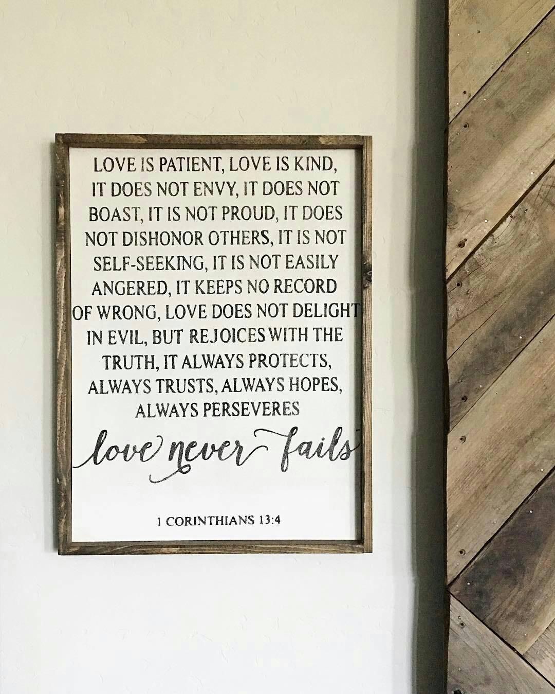 Love Is Patient Love Is Kind. Corinthians Verse. Wedding