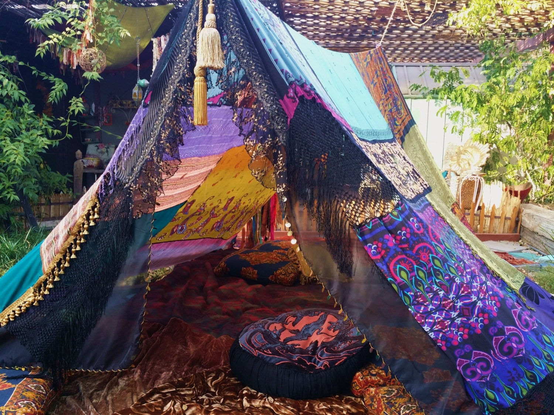 Witchy woman boho tent made to order silk hippiewild jpg 1500x1125 Gypsy tent diy & Gypsy Tent Diy | www.picsbud.com