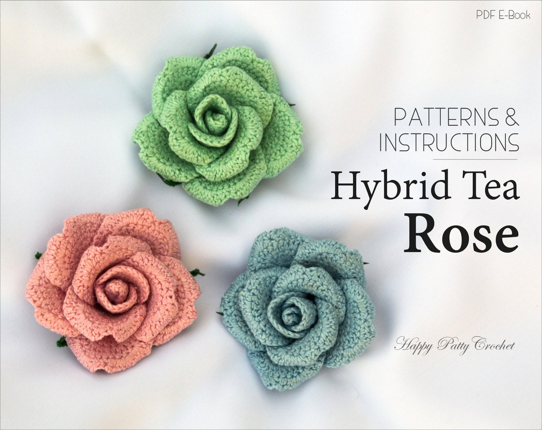 Crochet pattern mini crochet flower pattern small crochet crochet flower applique pattern crochet rose pattern crochet flower pattern for home decor bankloansurffo Gallery