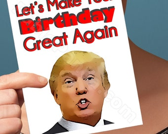 Happy Birthday Card | Donald Trump | 30Th Birthday Card Boyfriend Gift Birthday Card Greeting Cards 40Th Birthday Card Funny Birthday Card