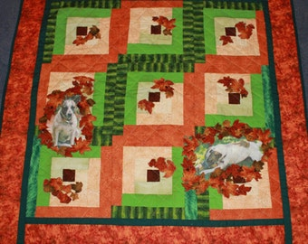 Quilted and appliquéd wall hanging Mollies Memory