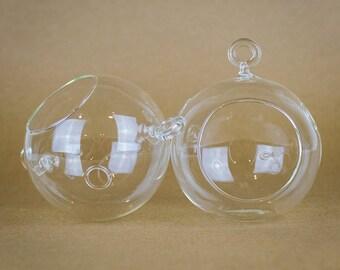 "4.5""x4"" hanging terrarium glass globe"
