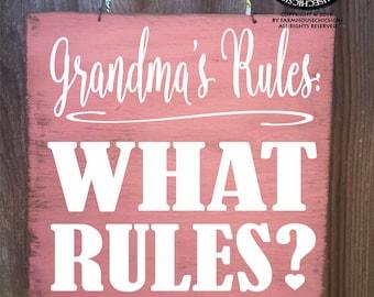 grandma sign, grandma gift, gift for grandma, grandma rules, grandma house rules, grandma Christmas gift, grandma birthday gift