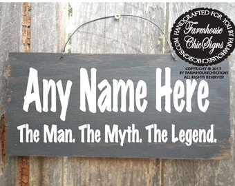 Papa the man the myth the legend sign papa sign grandpa personalized papa gift personalized papa sign papa the man the myth the legend sciox Gallery