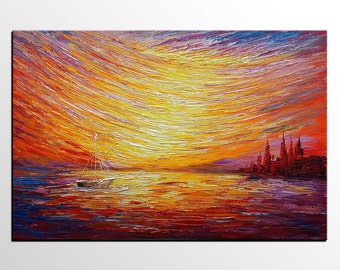 Large Painting, Colorful Sky, Canvas Art, Original Art, Large Art, Abstract Art, Canvas Painting, Abstract Painting, Wall Art, Landscape Art