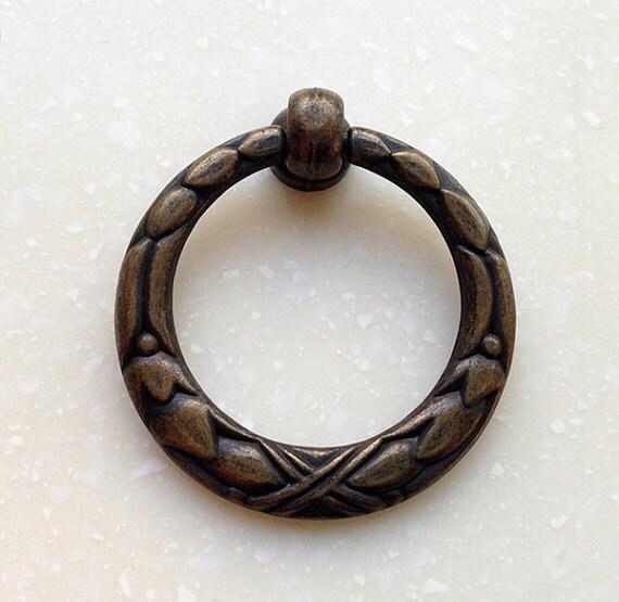 Vintage Bronze Drop Ring Pulls Handles Cabinet Handle Pull
