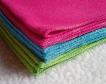 Gray, Pink, Green or Blue micro-fleece cloth diaper liners