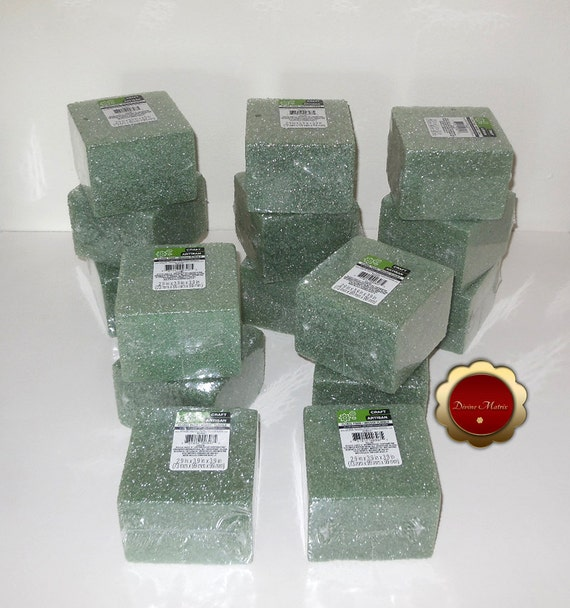 15 green floral craft foam block green floral foam by for Dried flowers craft supplies