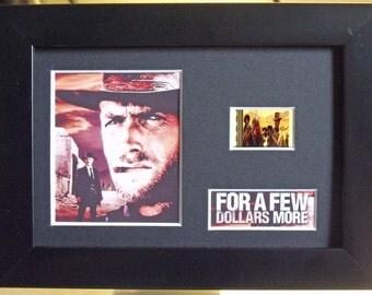 For a Few Dollars More Clint Eastwood Lee Van Cleef framed 35mm film cells V1 - Black or Silver