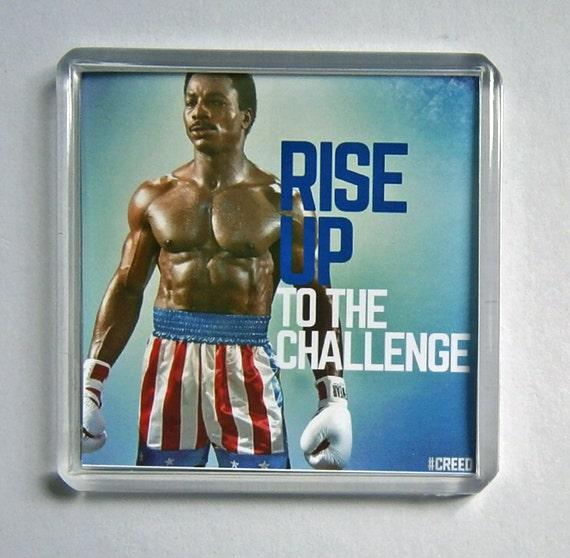 Rocky IV Sylvester Stallone Change Talia Shire movie poster square fridge magnet New