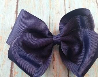 XL/Jumbo Solid Navy Blue Hair Bow / Big Navy Bow / Large Navy Hair Bow / Baby Girl Navy Hair Bows / Navy Hair Bow/ Navy Bow