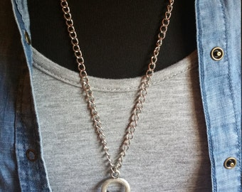 Silver Chained Necklace with Charms