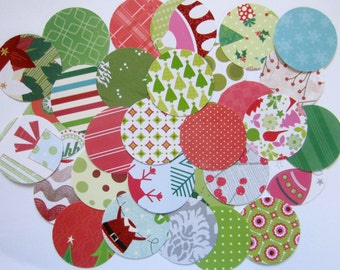 "Christmas Paper Circle 2"" Embellishment Pack 100"