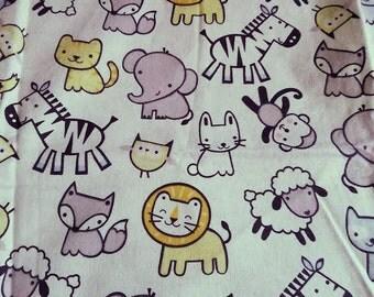 Animal receiving blanket, baby animal swaddling blanket, baby blankets, animal blanket, swaddling blanket, baby shower gift, baby essentials
