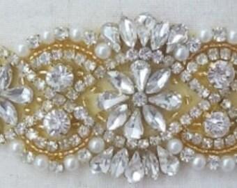 Gold Wedding Sash Belt, Rose Gold Bridal Belt, Sash Belt, Wedding Dress Sash, Crystal Rhinestone Belt, Style 159