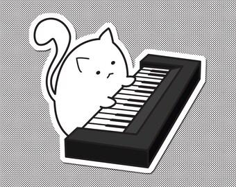 Fat Cat Sticker - Keyboard Cat - Internet Meme