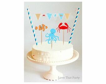 Ocean cake topper Etsy