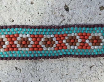 Desert Flower Beaded Cuff
