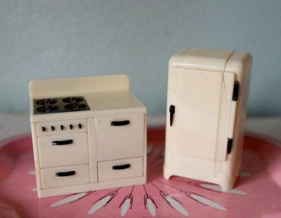 Vintage Plastic Dollhouse Furniture Plasco Dollhouse Kitchen