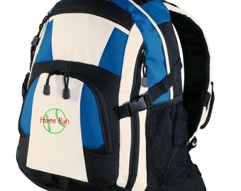 Personalized Backpack Embroidered Back Pack Custom Backpack - Sports - Baseball/Softball - BG77