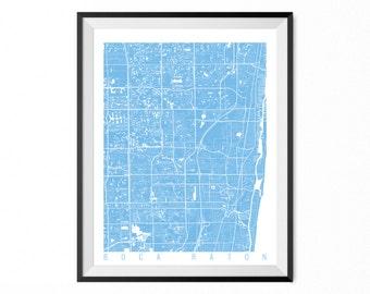 Boca Raton Map Art Print / Boca Raton City Poster / Boca Raton Wall Art / Florida/ Gift / Florida home decor