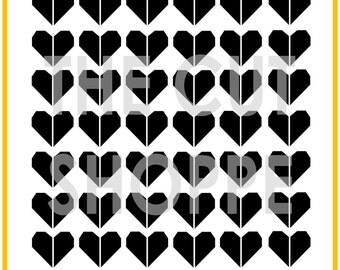 The Half Hearted cut file is a background available in 8.5x11 and 12x12 sizes, for your scrapbooking and papercrafting projects.